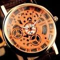 YAZOLE Skeleton Watch Men 2017 Top Brand Luxury Famous Male Clock Quartz Watch Wrist Man Quartz-watch Relogio Masculino Hodinky