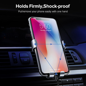 Image 2 - Ugreen רכב טלפון מחזיק עבור iPhone XS MAX XR X 7 הכבידה אוויר Vent הר מחזיק עבור Xiaomi נייד סלולרי טלפון מחזיק לעמוד במכונית
