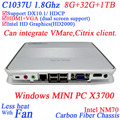 Latest 12v mini computer cloud computer with Intel Celeron 1037u X3700 dual core 1.8Ghz 1080P Windows Linux mini pc