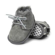Brand New Toddler Infant Newborn Baby Boy Girl Winter Fur Snow Boots Warm