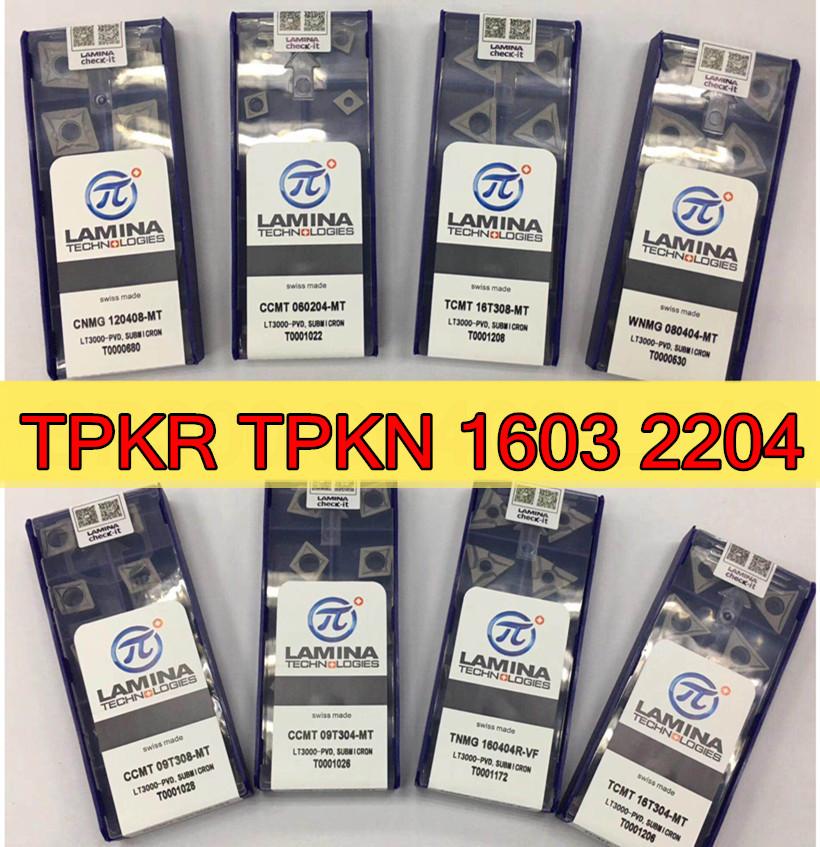 10pcs APKT1604 PDTR LT10 milling carbide inserts stainless steel and steel