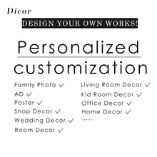 DICOR Family Photo AD Poster Shop Decoration Custom Size Glass Film/Wall Sticker