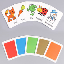 Cognitive card Learn English Word Puzzle Toy kid Educational Toys Baby Literacy Game Learning Cards Animal