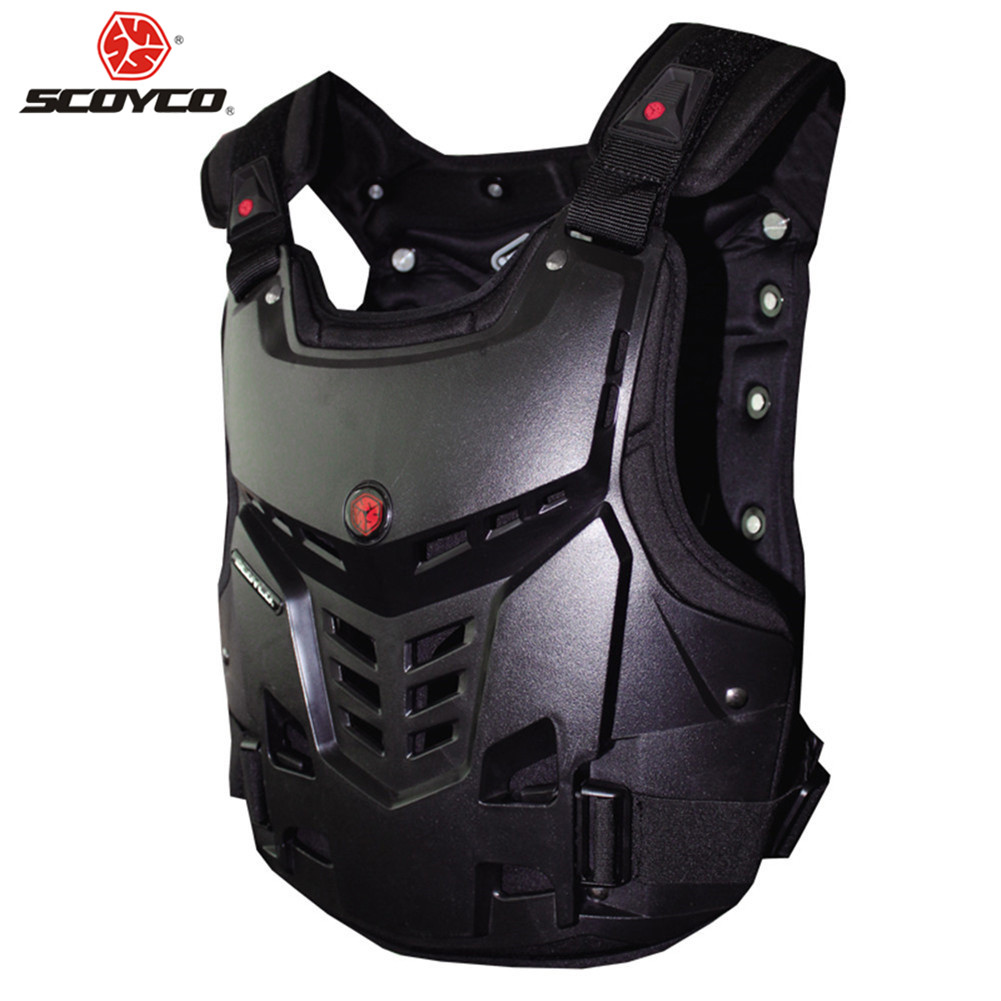 Motorcycle Armor Motocross Chest Back Protector Armour Vest Racing Protective 0581 Moto Body Guard Vest MX ATV Guard Black