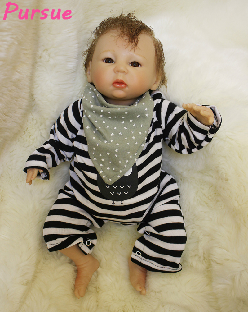 Pursue 22/55cm Cute 100 reborn babies dolls for Boys girls silicone dolls reborn Baby Doll Toys for Sale bebe reborn menino 55 pursue baby alive silicone reborn baby dolls for sale toys for children girls boys reborn doll 55 cm bebe reborn menino menina