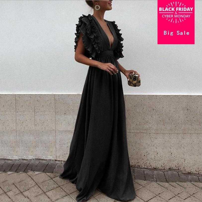 41cfbe1569 2018 summer new fashion women dress sexy deep v-neck backless sleeveless  Maxi dress female