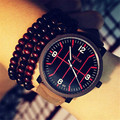 Super Cool Casual Couple Watches Korean Stylish Simple Basketball line ulzzang Harajuku lovers watch Woman Clock 323