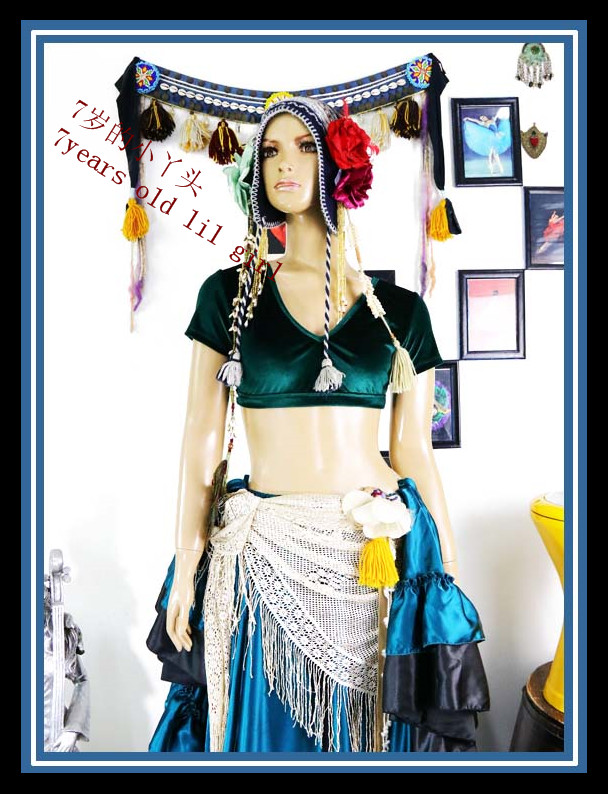 Velvet Fat Chance Tribal Choli Belly Dance Costume Short Sleeve Top FB50-FB60