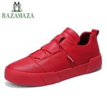 RAZAMAZA Fashion Men Vulcanized Shoes Simple Round Toe Elastic Band Shoes Trend Classics Shoes Men Footwear Size 39-44
