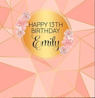 custom Rose Gold Peach Blush Sweet Sixteen Adults Party backdrops Computer print birthday backgrounds