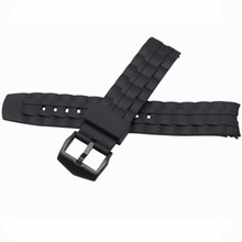 New Silicone Rubber Watchband for Casio EF550 EF552 Replacement Watch Band Sport Strap Stainless Steel Buckle Wrist Bracelet quality silicone watchband 23mm black sport style for mens replacement silicone watch bands with steel buckle
