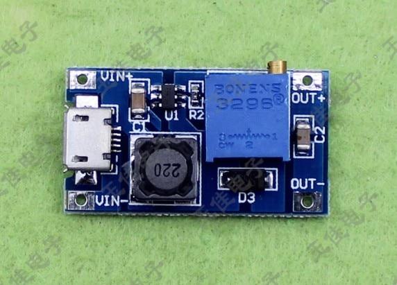 10pcs/lot 2a Boost Board DC-DC Boost Module Wide Voltage Input 2 / 24V Up to 5/9/12 / 25V Adjustable