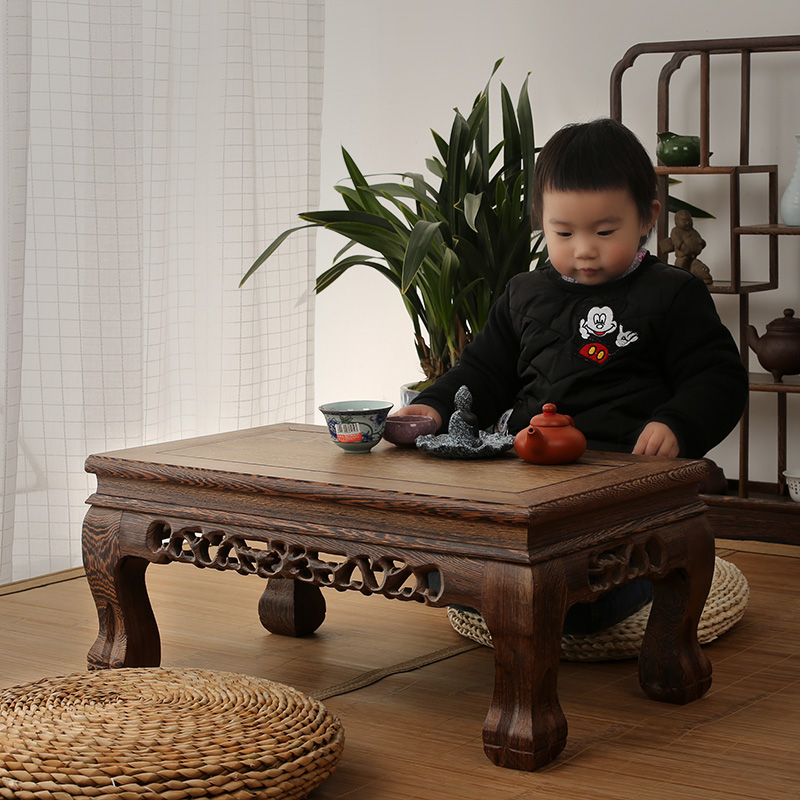 Mahogany furniture wooden wood table table Kang several windows carved antique tatami platform
