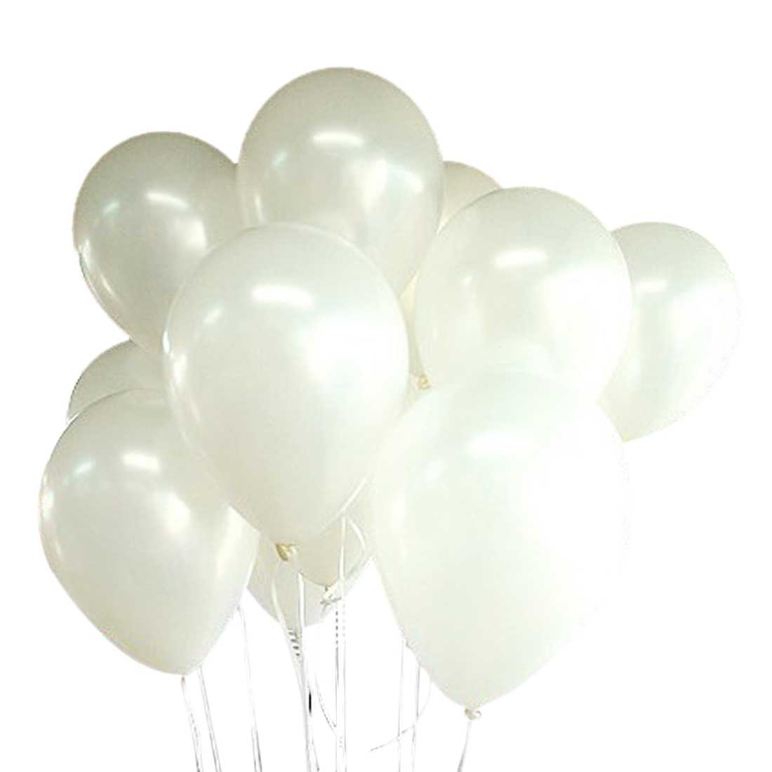 100 Balloons Birthday Wedding Party Decoration Club Balloons 25 cm Color: white