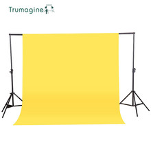 1.6X3M/5.2X9.8Ft Yellow Color Non-woven Textile Muslin Photo Backgrounds Studio Photography Screen Chromakey Backdrop Cloth