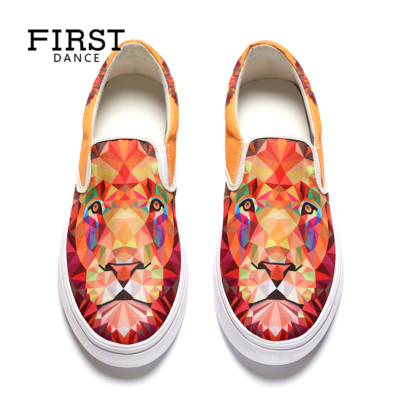 2018 Air Mesh Women Casual Shoes Customized 3D Prints Students Loafers Shoes Girls Flats Slip-on Woman Leisure Shoes Loafers