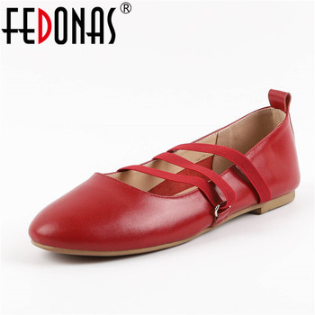 FEDONAS Soft Leisure Flats Women Genuine Leather Shoes Woman Moccasins Loafers Casual Female Driving Ballet Footwear Shoes Flat