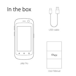 Image 5 - Smartphone unihertzs jelly pro 3gb + 32gb, o menor smartphone 4g do mundo, android 8.1 oreo desbloqueado smartphone preto