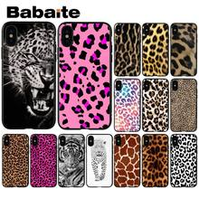 Babaite Tigre Estampa de Leopardo Pantera Acessórios Do Telefone Caso de Telefone Celular para Apple iPhone 8 7 6 6 S Plus X XS MAX 5 5S SE XR(China)