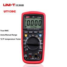 UNI-T UT139C Цифровой Мультиметр True RMS Автоматический/Ручной Диапазон AC/DC Вольтметр Амперметр C/F температура Тестер