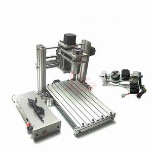 Image 2 - 3 4 5 ציר אלומיניום מיני cnc נתב מכונת עבור עץ בולט תבליט pcb pvc DIY כרסום קידוח חריטת כדור בורג USB