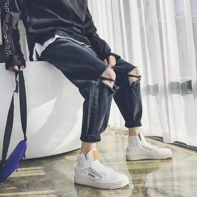 Bege preto Moda Masculina Lazer Masculino Up De Sapatos Sexo azul Sneakers Vulcanize Lace Do Alta Respirável Footwears 2018 Malha Casuais Macio pxqUAw1p