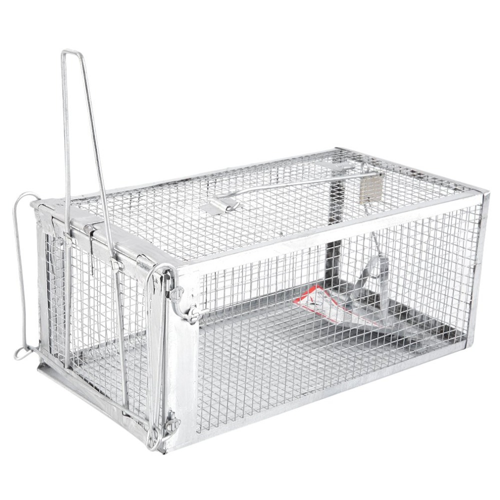 One Door Animal Trap Sturdy Steel Cage For Small Rodent Humane Cage Control Catch Bait For Rat Squirrel Toiletry Kits 2019 New