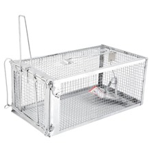 One Door Animal Trap Sturdy Steel Cage for Small Rodent Huma