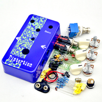 NEW DIY Guitar Distortion Pedal kit deep Blue Distortion Electric Guitar Effect Pedal True Bypass + High quality 1590B case