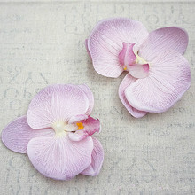 15pc Large Artificial Flowers Silk Gradient Butterfly Orchid Heads Phalaenopsis DIY Wreath Gift Scrapbooking Wedding Decoration