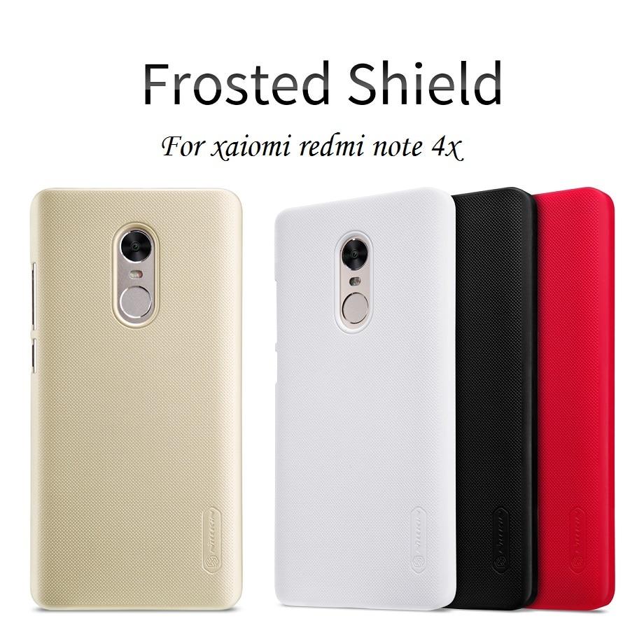 Caso di Nillkin Per Xiaomi Redmi Nota 4X funda copertura 5.5 ''hard copertura della cassa di plastica della copertura posteriore redmi nota 4x + free Screen Protector