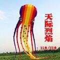 3d nylon ripstop cometas animal regalo de la diversión gran pulpo kite kite 15 m suave medusas colas de cometa artesanía globos mangas de viento pesca
