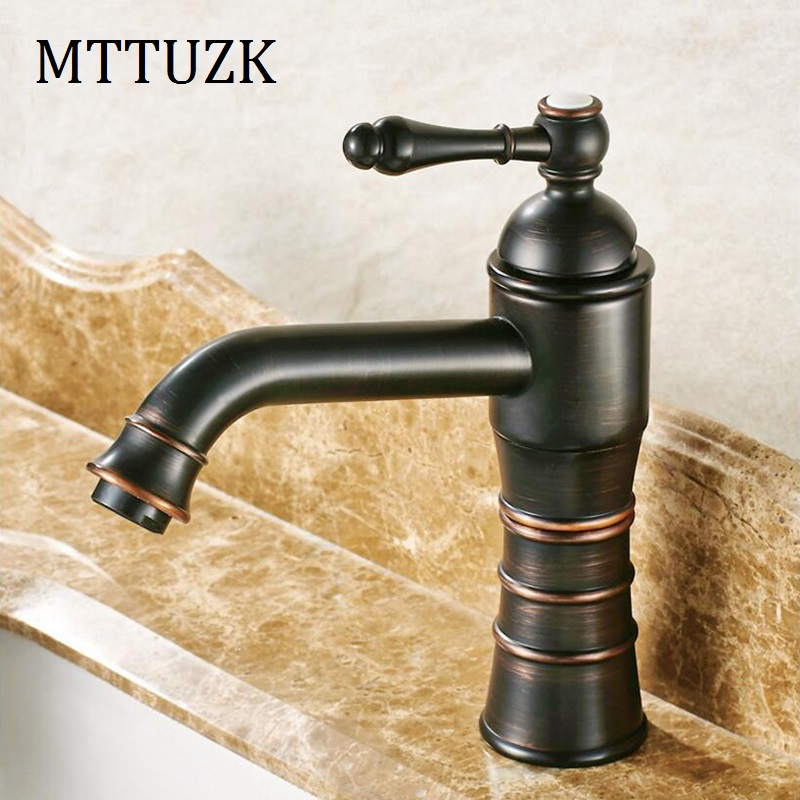 MTTUZK Bathroom faucet oil bubed Black Copper hot and cold water ...