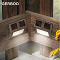 GERBOO Solar Power LED Outdoor Lights IP44 Garden Pathway Stairs Lamp Light Energy Saving Solar Lamp 6PCS/LOT