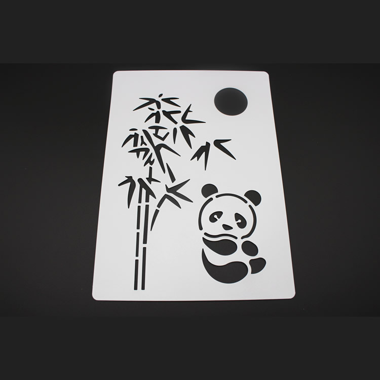 Bamboo panda fondant cake decorating tools cake stencil template bamboo panda fondant cake decorating tools cake stencil template mold pad decorative embossing paper crafts mk2523 in baking pastry spatulas from home maxwellsz