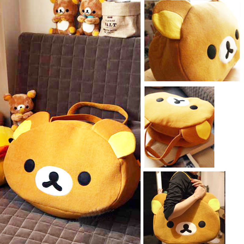 e3b264037a39 Rilakkuma Cute Big Bag Handbag shoulder Bag plush relax brown bear ...