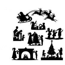 Christmas Deer Dies snowflake layer Tree Background Cutting 2019 Bell Metal dies Cuts die for Scrapbooking DIY card making