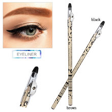 Crayon pour les yeux professionnel femme crayon Eyeliner rapide Waterproof maquillage Eyeliner stylo maquiagem noir/marron(China)