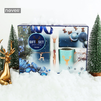 NEVER Christmas Series Stationery Set gift sets Diary notebook planner Ball pen mug Chancellory student school & office supplies