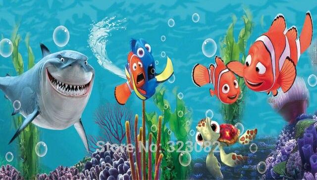 L2 00140 Finding Nemo Cartoon Home Decoration Children Wallpaper 3D Non