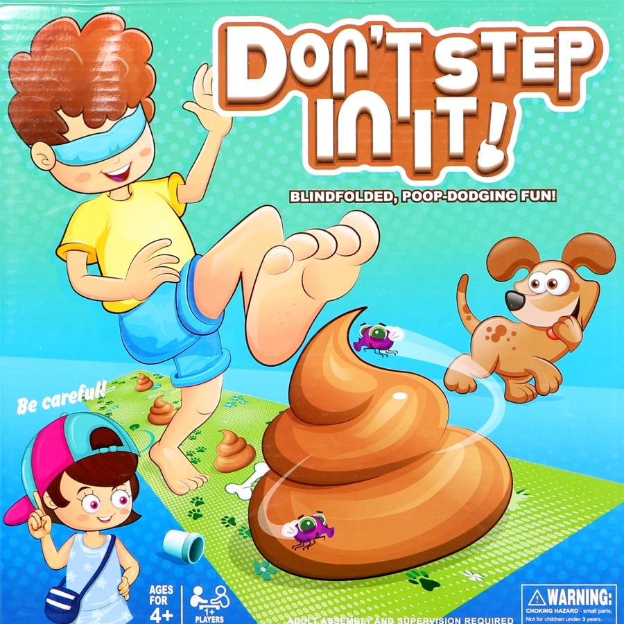 Étape dans le moins de caca pour gagner! ne pas marcher dedans fête de famille jeu jouet ensemble pour enfants drôle blague jouet cadeau