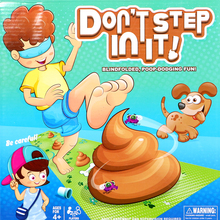 Step in the fewest poops to win!Don't step in it family party game toy set,for children's funny practical joke toy gift