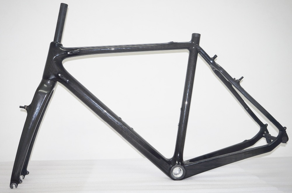 51cm Cyclocross Carbon Bike Frame V Brake Carbon Fiber Cyclocross Road Bicycle Frame