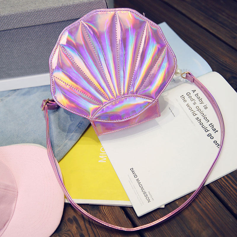 Linda bolsa de playa de cuero de la PU láser Lolita Mini Crossbody - Bolsos - foto 5