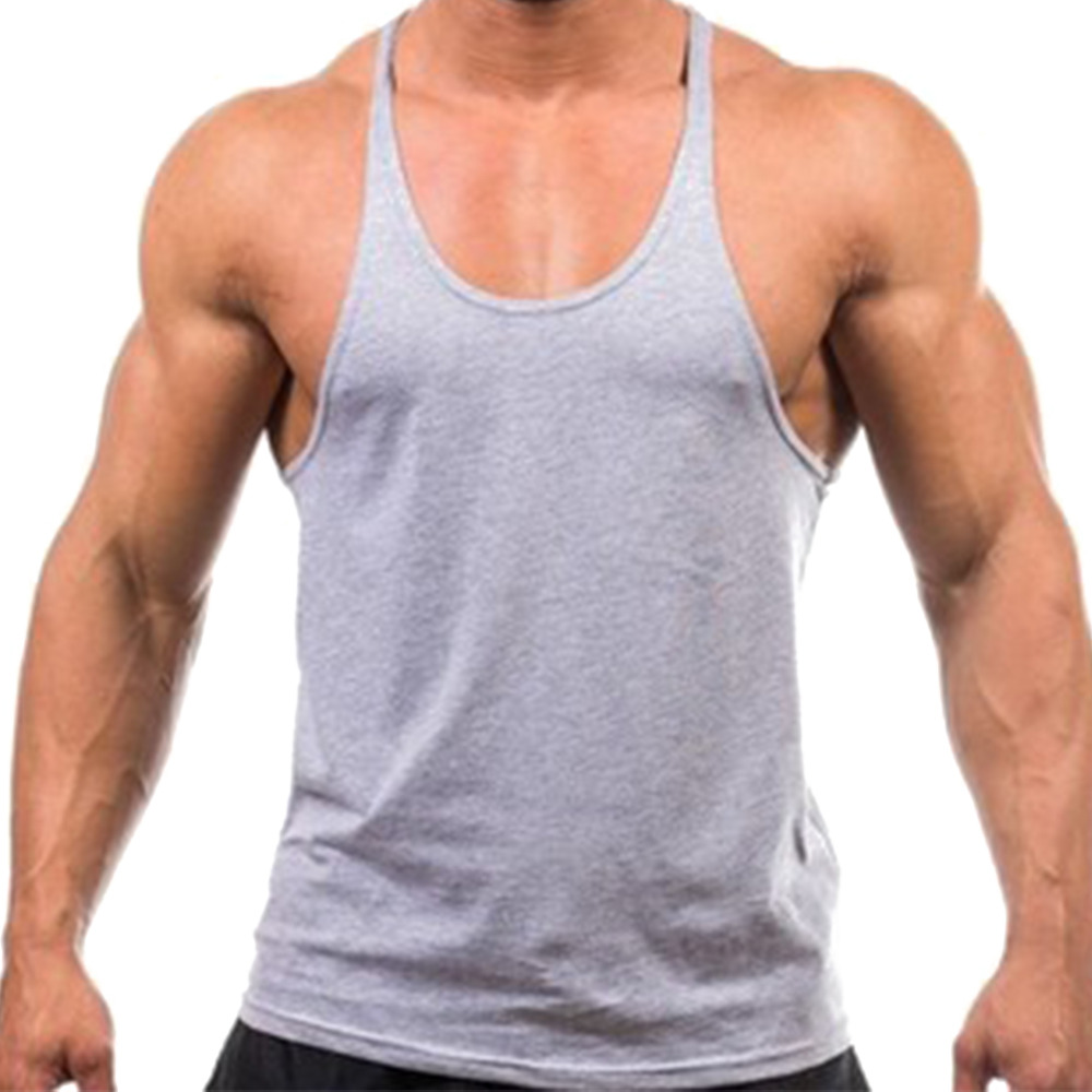 Hot New 2017 Men Tank Top Cotton Soft font b Fitness b font Vest For Men