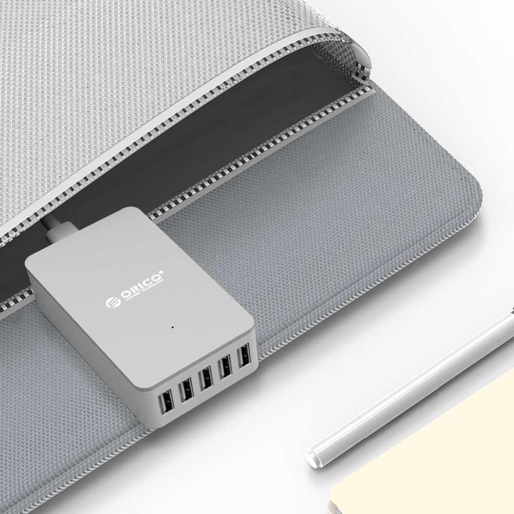 ORICO 5 Port USB Charger 5V2.4A Desktop Charger Untuk Pad Phone - Aksesori dan suku cadang ponsel - Foto 6