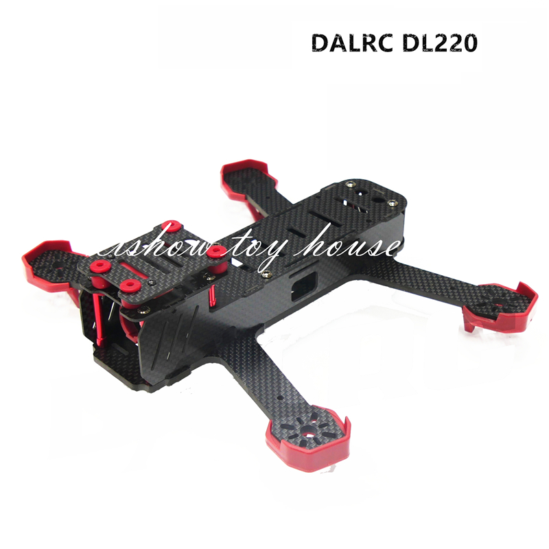 DALRC RC DIY FPV Mini Drones Race Quadcopter DL220  220mm Carbon Fiber Frame Unassembled Support 1806 2204 Motor 12A ESC rc plane 210 mm carbon fiber mini quadcopter frame f3 flight controller 2206 1900kv motor 4050 prop rc