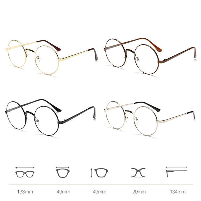 9a09aebc4020a ... Chic Eyeglasses Retro Big Round Metal Frame Clear Lens Glasses Nerd  Spectacles Black