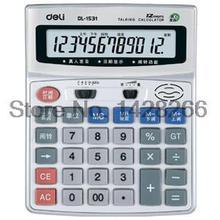 Deli 1531 Office Commercial Calculator Pronunciation Effective Voice Calculator Large Screen Live 12 Digits Screen
