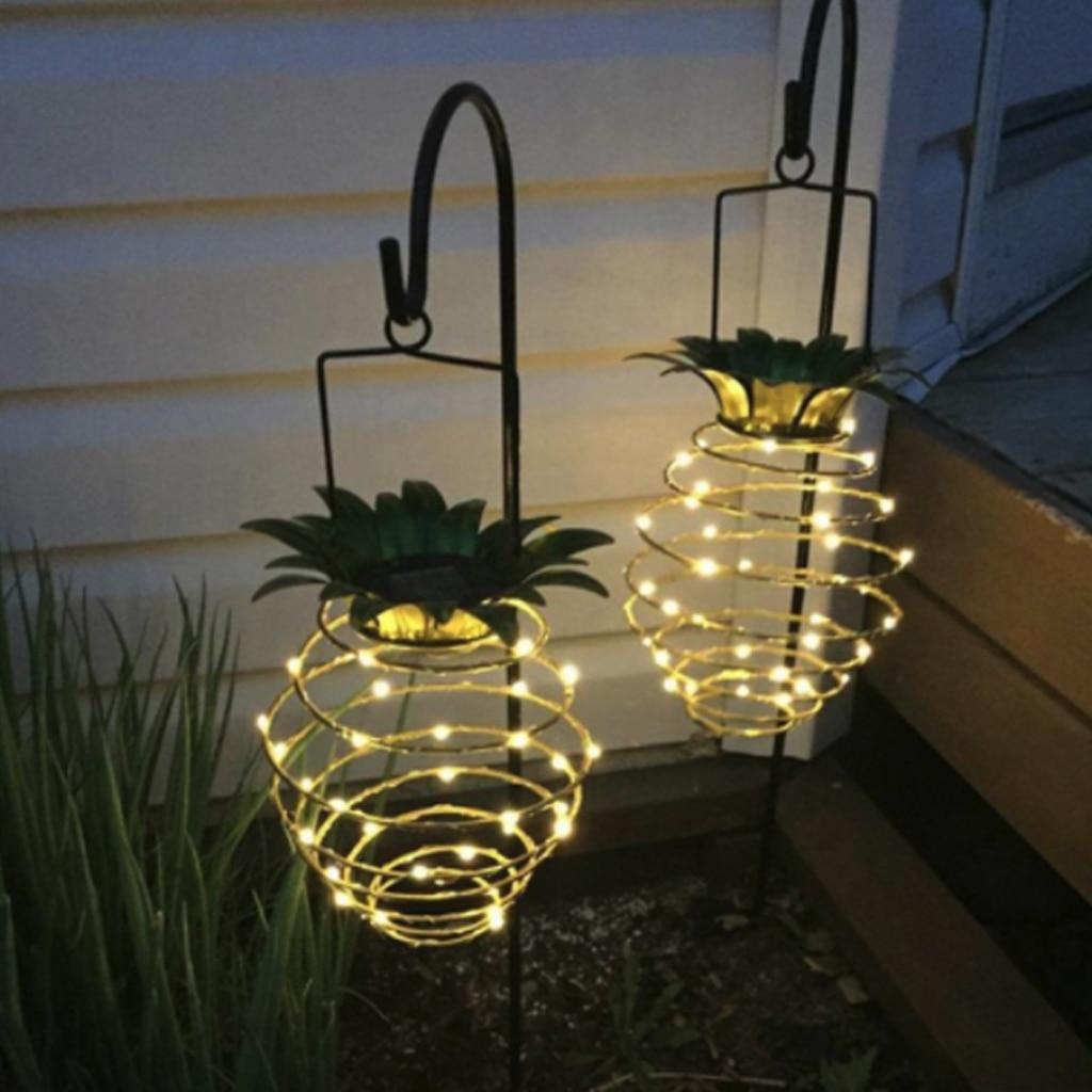 Hot Sale Solar Garden Lights Outdoor Pineapple Porch Decor Landscape Lights Waterproof Outdoor LED Solar Lantern Auto On/Off